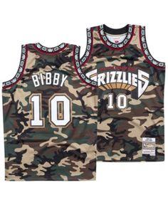 de546e4601f Mitchell & Ness Men's Mike Bibby Vancouver Grizzlies Woodland Camo Swingman  Jersey - Green XXL