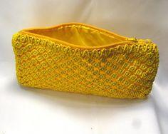 Желтый бисером макраме сумка Солнечный по макраме на Etsy