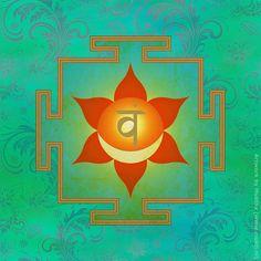 Yantra with Swadhisthana (second chakra), created with Photoshop