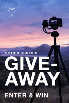 Syrp's giving away 3 incredible motion control prize packs valued at over $1200! Total Prize Value over $1,200! Enter NOW