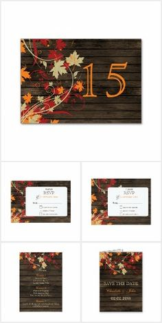Barnwood Autumn Leaves Fall Wedding Collection