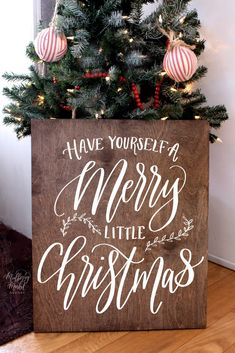 Wood Merry Little Christmas Sign