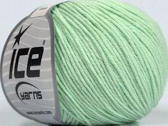 Fiber Content 50% Acrylic 50% Cotton Mint Green Brand Ice Yarns Yarn Thickness 3 Light DK Light Worsted fnt2-44637