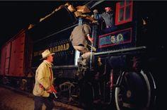John Wayne in The Train Robbers