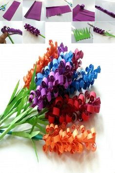 Fathers Day Gift Craft Paper Hyacinth Flowers give on Father's Day It is a technique for giving back for the love and care we get from father and this for Kids, son or daughter to any age to give gift to your father