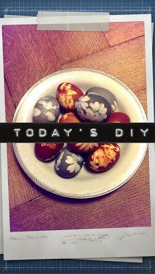 enidan's art: DIY ¦ eier färben - oldschool like Oldschool, Blog, Deco, Crafting, Blogging