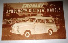 Vintage 1949 Crosley Motor Car Big New Models Brochure   eBay