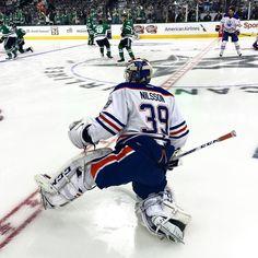 "edmontonoilers: ""Anders Nilsson making his first #Oilers start tonight! #EDMvsDAL"""