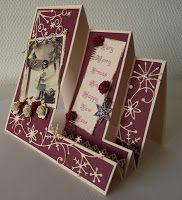 handcrafted card from Kaartje van Joke ..: triple panel step card ... template on the blog ...