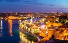 Cruise liner in the port of Valletta - Malta