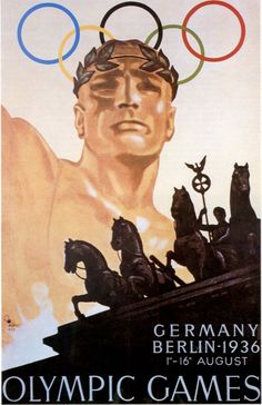 German 1936 Olympic Games poster