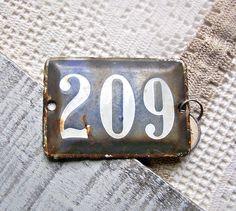 Vintage French Paris House / Apartment Number. $24.00, via Etsy.