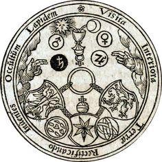 speciesbarocus: Hermes Trismegistus - Occvlta philosophia [x] Esoteric Symbols, Esoteric Art, Rose Croix, Art Ancien, Arte Tribal, Templer, Occult Art, Demonology, Mystique