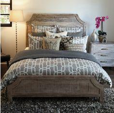 Rustic Reclaimed Wood Aria California King Bed | Zin Home