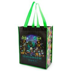 Mickey Mouse, Minnie, Pluto, Goofy and Donald are all in costume for a spooktacular visit to The Haunted Mansion on this Halloween 2013 Resuable Tote that's frightfully fun for trick-or-treating or everday use! http://di.sn/bK3