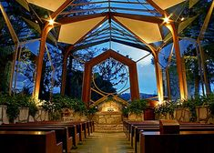 Wayfarer's Chapel - in Palos Verdes, CA. - I've been to a wedding here.  Intimate and nice.  Parking is a bit of a walk for the elderly, but very pretty setting.  No venue for the reception.