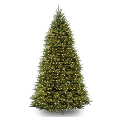 Pre-Lit Dunhill Fir Artificial Christmas Tree. This Pre-Lit Dunhill Fir Hinged Tree is perfect for decorating any room. With 1838 tips on the 6 1/2' tree, 2144 tips on the 7' tree, 4026 tips on the 9' tree, 5090 tips on the 10' tree and 7794 tips on the 12' tree, it will easily hold all of your favorite decorations. Four separate sections make for easy installation. Made for indoor or outdoor use. This tree is also fire-resistant and non-allergenic, so it's safe and will be a perfect fit for…
