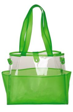 Semi Clear Jelly Beach Tote Bag Swimming Shoulder 25 5star Outside Pockets People Loved For Quick Access Plastic Material Good