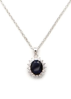 CelebMeUp Jewellery Royalty Collection - White Gold Bonded Royal Replica Pendant Necklace Set