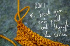 "How to cast on and bind off without leaving ""ears"" or the bumps"