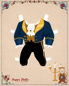 Beast Paper doll | Disney's Beauty and the Beast Printables, Coloring Pages and Activities | SKGaleana