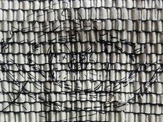 Sketchcuttedandwoven By manuel wandl 2017 Weaving, Loom Weaving, Crocheting, Knitting, Hand Spinning, Soil Texture, Stricken, Loom