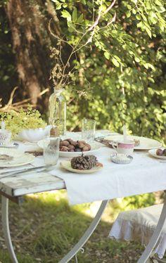 mi casita en el bosque: ❧ De ligustros y espiguitas ❧ Summer Christmas Table ❧ White, cream and beige
