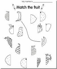 A fruit match-up worksheet