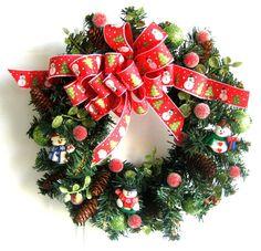 Mini Christmas Wreath  Mini Xmas Wreath  by WeddingsAndWreaths