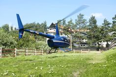 With a helicopter to the Hotel & Resort SPA WARMIA PARK in Poland - Pluski near Olsztyn, Warmia and Masuria