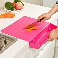 >> Click to Buy << Thick non-slip cutting board with vegetable baskets  removable combo chopping boards kitchen accessories #Affiliate