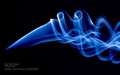 Blue smoke - Pinned by Mak Khalaf Abstract Smoke photography by LuukDraaisma