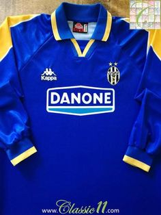 7b61b6d9171 Official Kappa Juventus away long sleeve football shirt from the 1994 1995  season. Football
