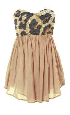 Leopard Tea Dress.