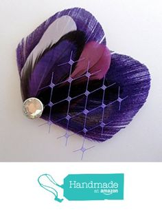 Oh Lucy Handmade TASHA Peacock Feather Hair Clip, Feather Fascinator in Purple and Black from Oh Lucy https://www.amazon.com/dp/B01A3F041G/ref=hnd_sw_r_pi_dp_TPUZybJ3YZYNT #handmadeatamazon