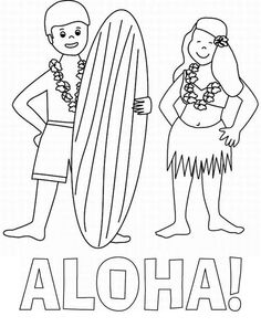 hawaiian language coloring pages - photo#18