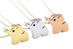 A teeny-tiny elephant necklace that comes in gold, rose gold, and silver. | Here's What People Are Buying On Amazon Right Now