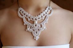 victorian crochet jewelry - Google Search