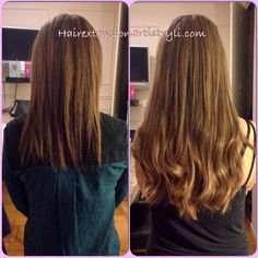 Custom highlights to match your exact shade for seamless results. Microlink hair extensions!