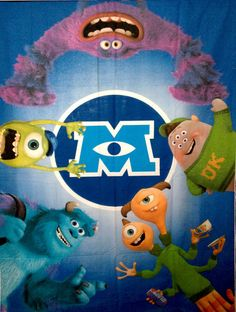Monsters Inc University All Characters PANEL by SewingUniverse