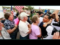 Arizona Protesters Launch Heated Battle, Feds With Illegals Never Showed Up