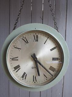 Vintage Gents Platform or Factory Clock,gent,leicester,factory clock,single side clock,Vintage single Side Platform or Factory Clock,clock,g...