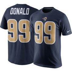 Nike Men s Los Angeles Rams Aaron Donald  99 Pride Navy T-Shirt. Nike Men s Los  Angeles Todd Gurley ... d619af38887