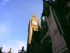 Big Ben from garden of parliament