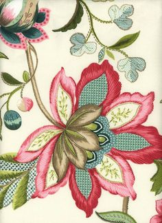 Azahar Berry a traditional floral pattern in bright colors. Hand Embroidery Videos, Hand Embroidery Stitches, Hand Embroidery Designs, Embroidery Patterns, Machine Embroidery, Kashida Embroidery, Jacobean Embroidery, Vintage Embroidery, Beaded Embroidery