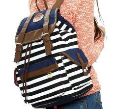 Fashion stripe BackpackShoulder Bag school por Camp4Fashion en Etsy, $23.00