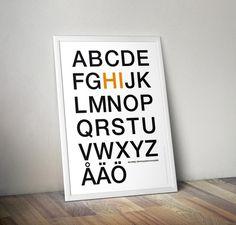 Affiche Alphabet Scandinave - A télécharger