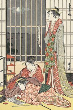 鳥居清長(Kiyonaga Torii)/九月