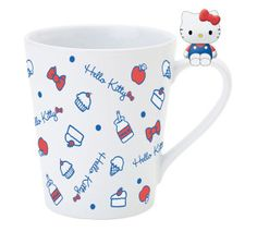 Hello Kitty Mug with Mascot $18.00 http://momokocute.com/product/hello-kitty-mug-mascot-04596/ #hello kitty #hello kity #sanrio #sanrio kitty #kitty chan