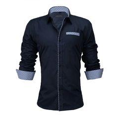 Mfasica Mens Fitness Loose Formal Fashion Striped Non-Iron T-Shirts